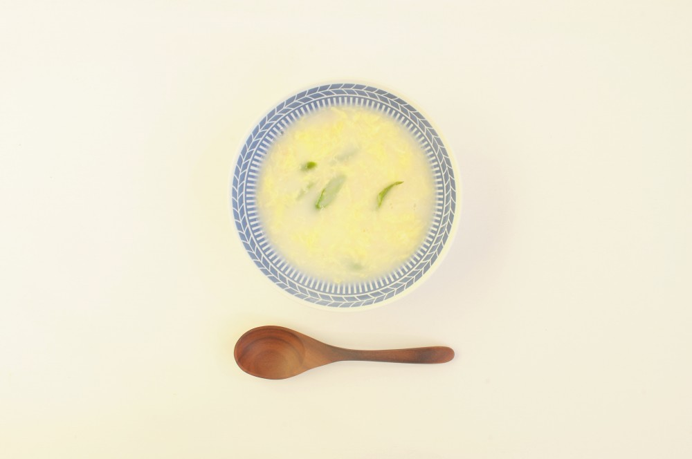 蟹のほぐし身とたまごの中華スープ