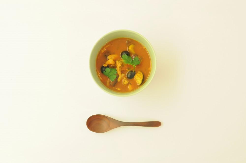 シチリア風トマトカレースープ