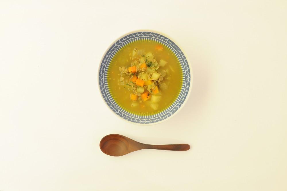 豚挽肉のカレースープ
