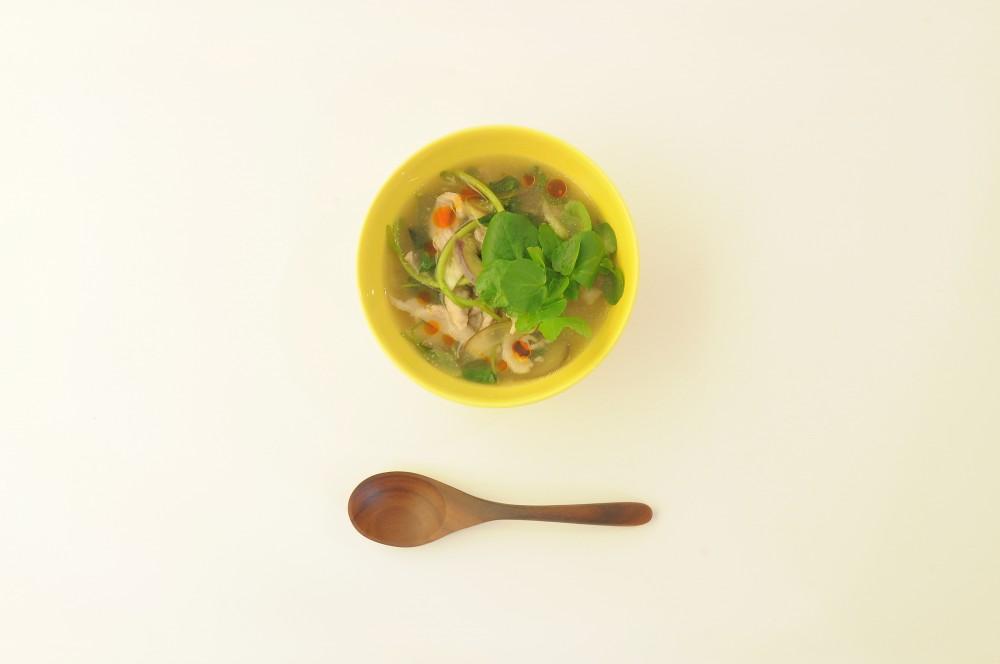 豚バラ肉とクレソンのサンラースープ