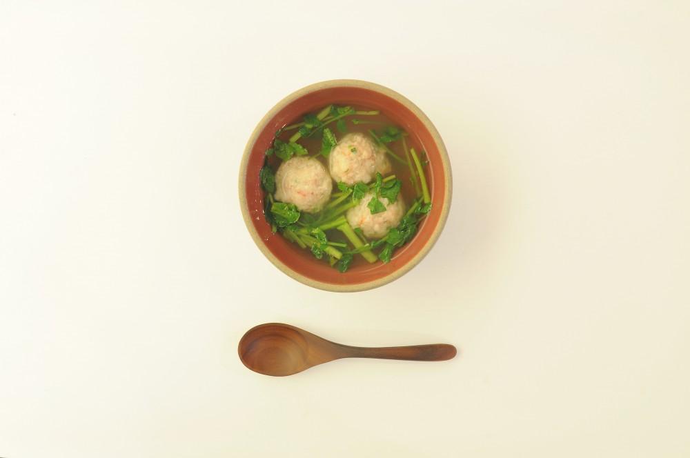 海老団子とクレソンのスープ