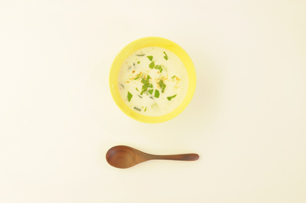 きゅうりとミントのヨーグルトスープ