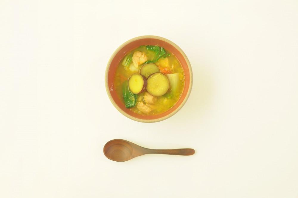 ツナとさつま芋のカレースープ