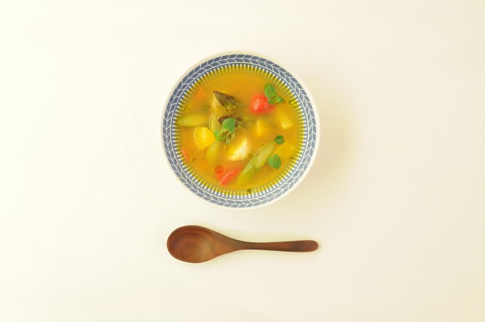 帆立と彩り野菜の軽い煮込み ハーブの香り