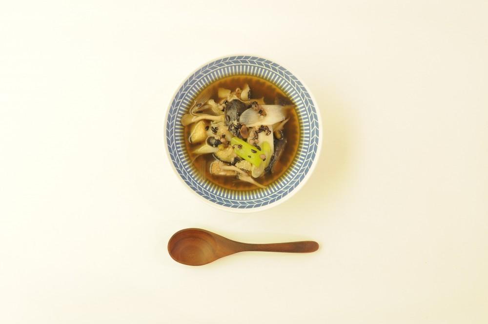 秋野菜と雑穀の和風スープ