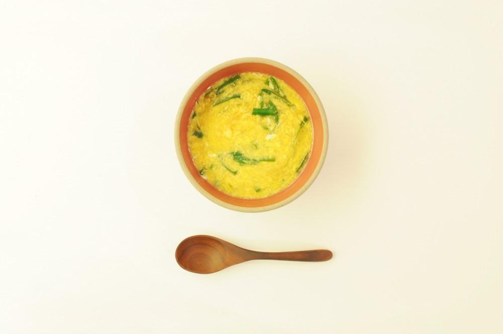 とろふわたまごのニラ玉スープ オイスター風味