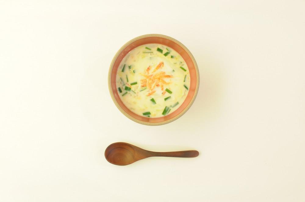 桜えびと白菜のミルクスープ