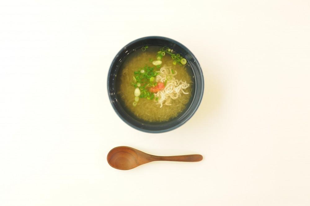 釜揚げしらすと梅のみぞれスープ