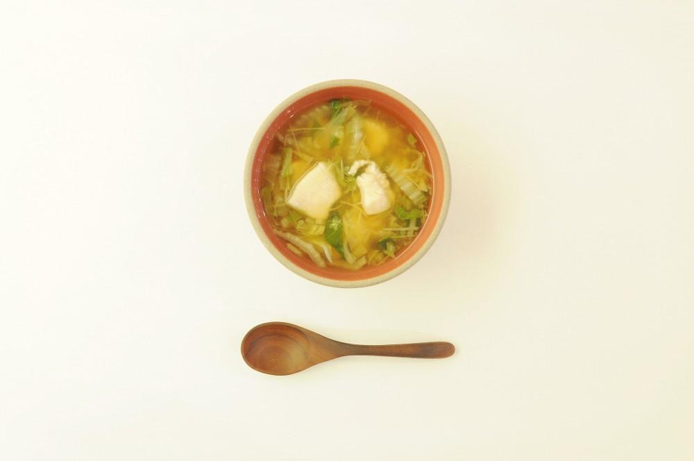 鶏肉と白菜のぽかぽか生姜スープ