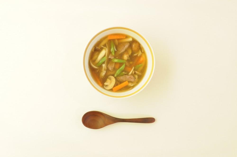 ラム肉と野菜の黒酢スープ