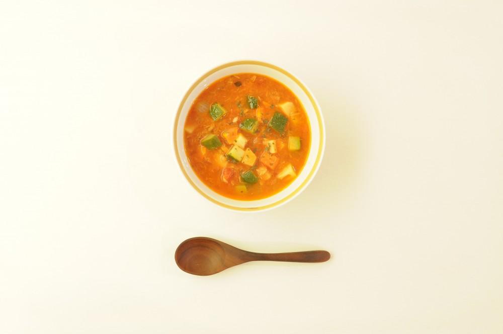 角切り野菜のツナトマトスープ