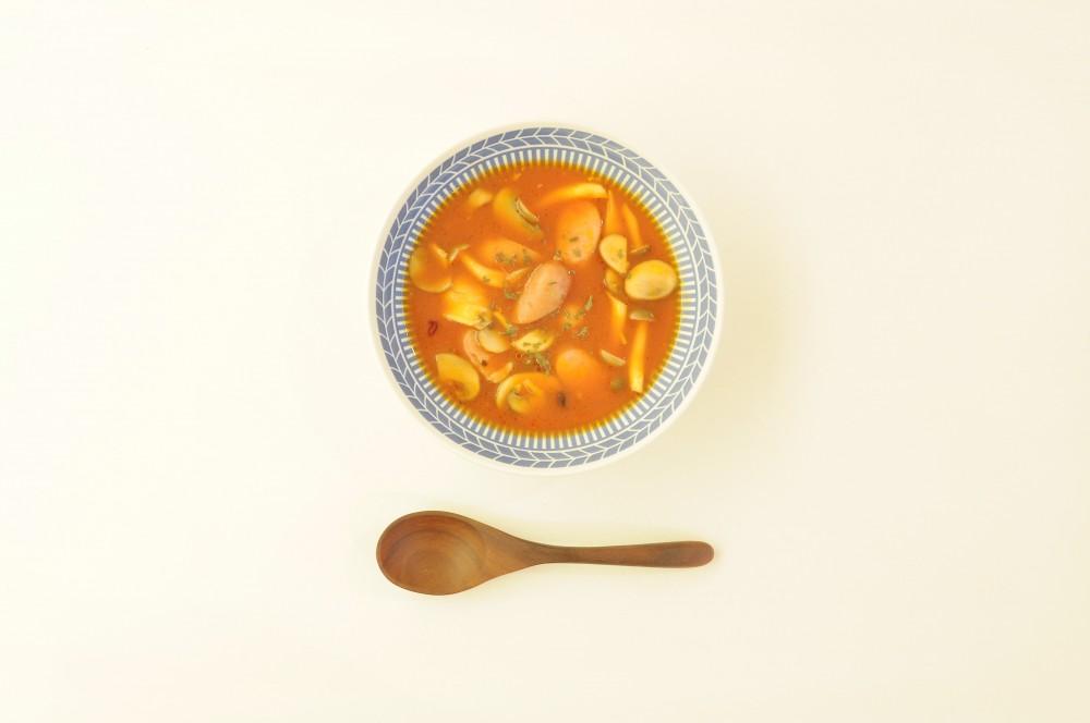 ポークウィンナーときのこのアラビアータスープ