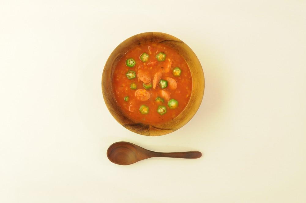 チョリソーのガンボスープ