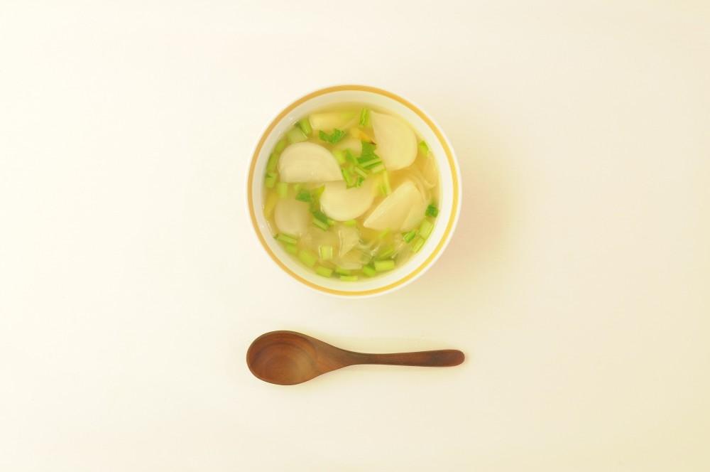 焼き葱とかぶのスープ