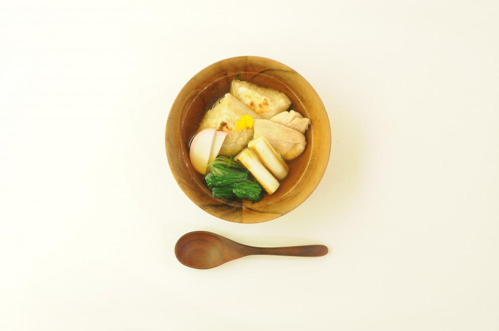 鶏肉と玄米餅のお雑煮