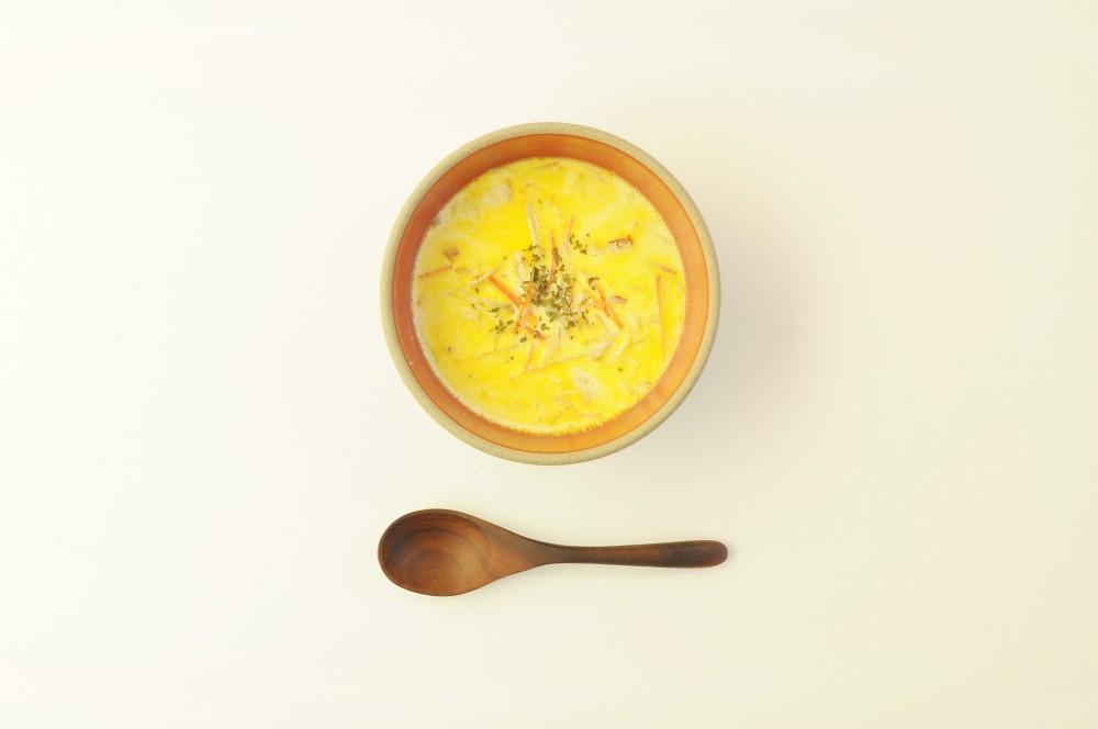 ごぼうの味噌ミルクスープ
