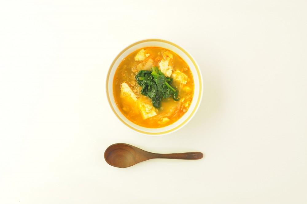 ほうれん草のチゲスープ