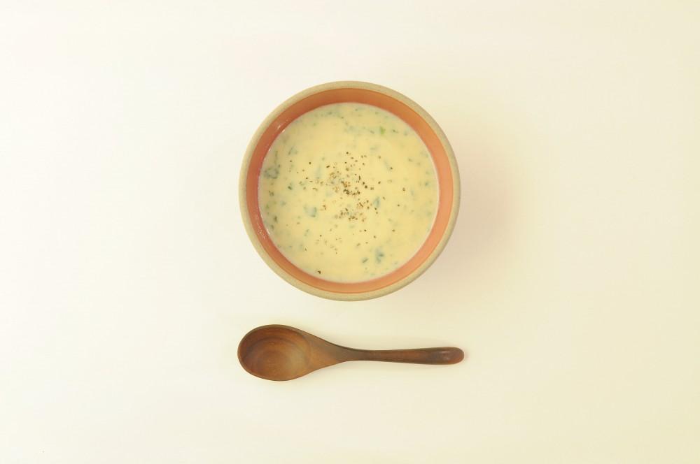 ほうれん草の豆乳味噌スープ