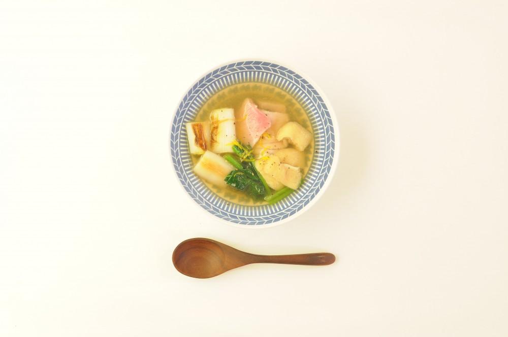 鮪と焼き葱の和風スープ