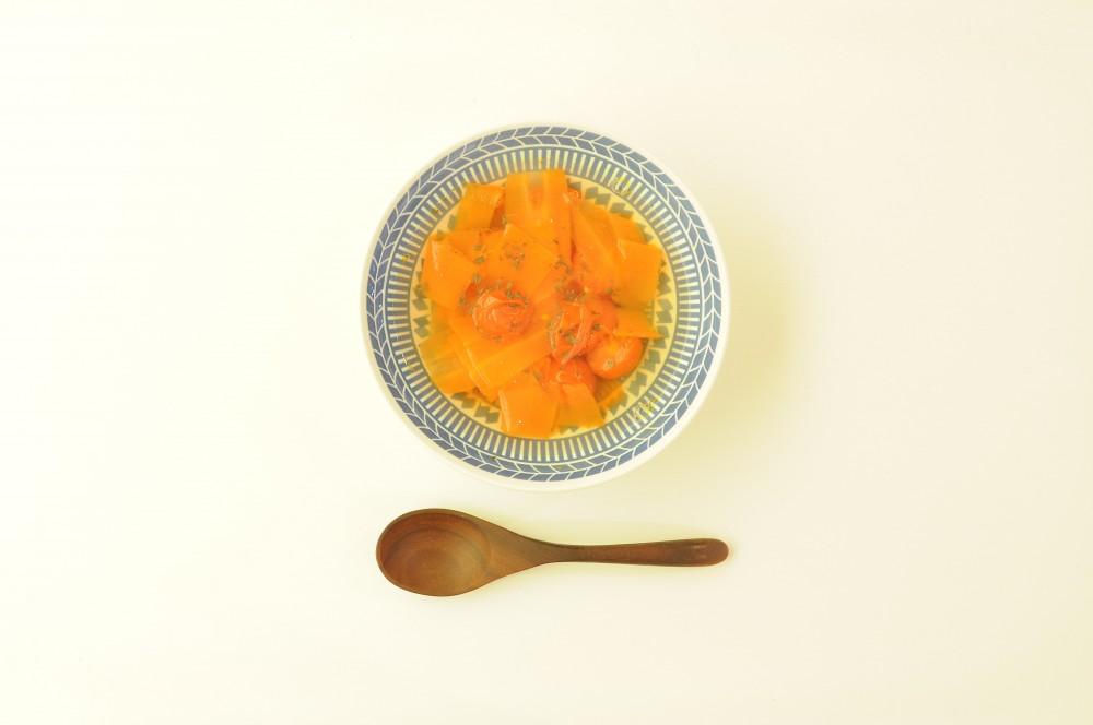 人参とチェリートマトのモーニングスープ