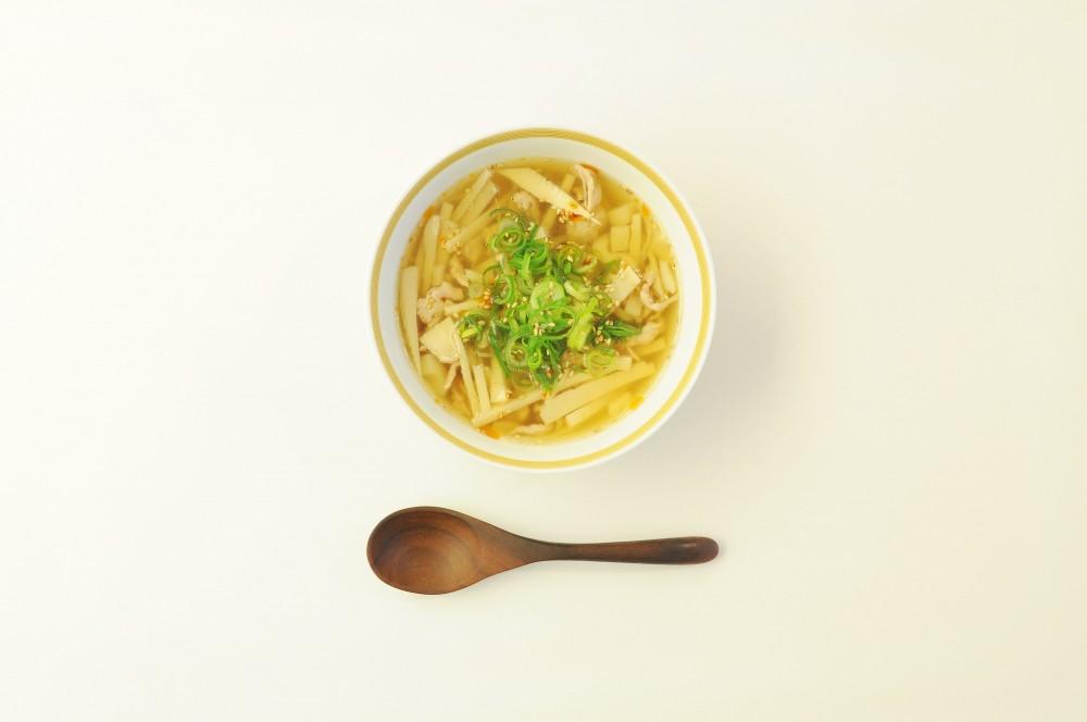 たけのこと豚肉の黒酢スープ