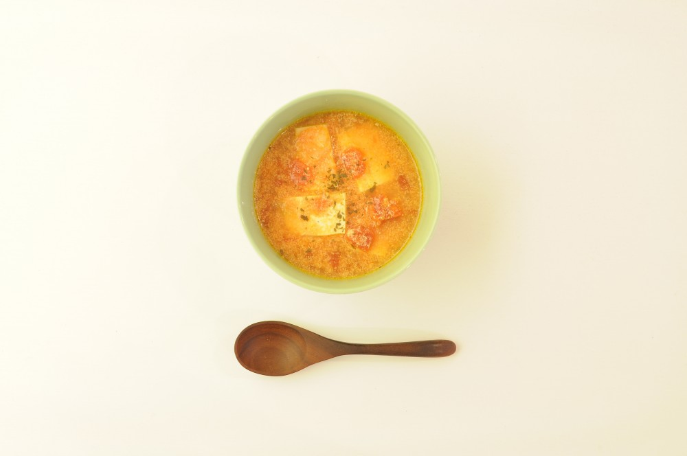 豆腐のトマトミルクスープ