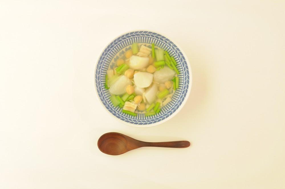 かぶと帆立のスープ