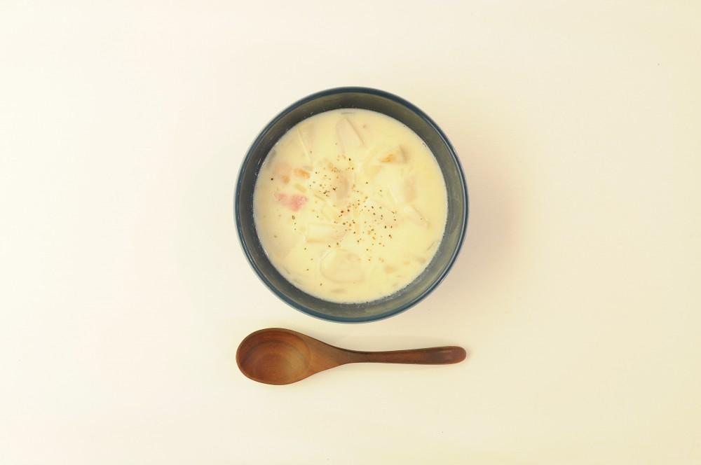 里芋の豆乳クリームスープ