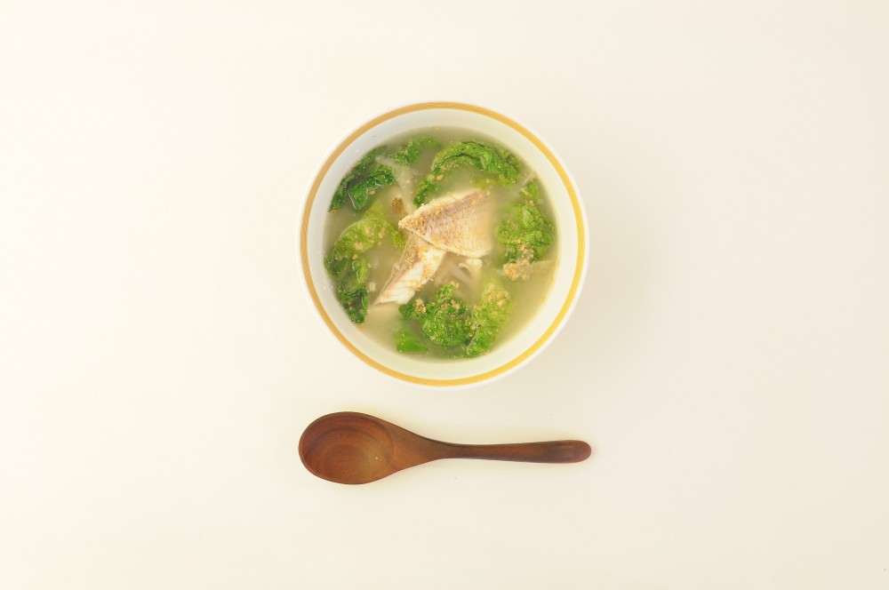 鯛と牛蒡のレモンスープ