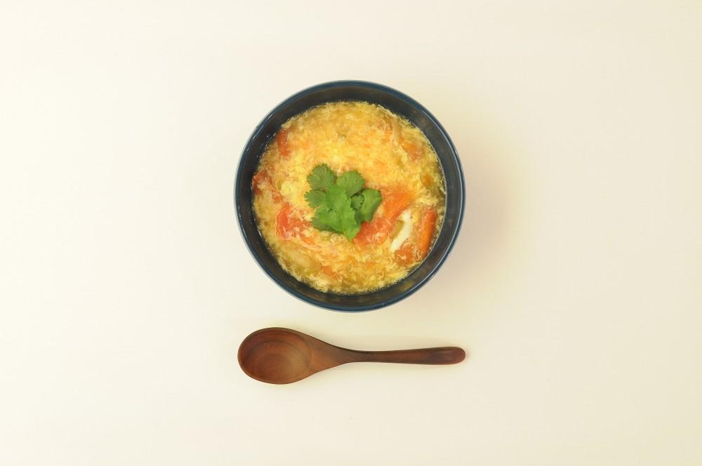 トマトとザーサイのたまごスープ