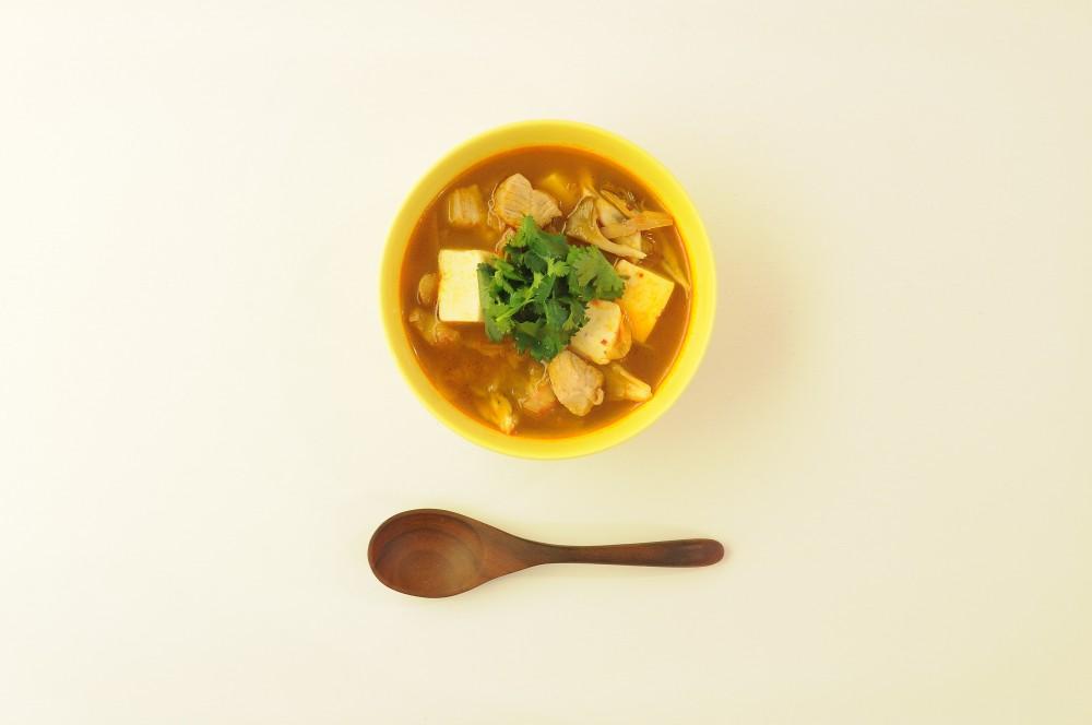 豚肉と香菜の韓国スープ