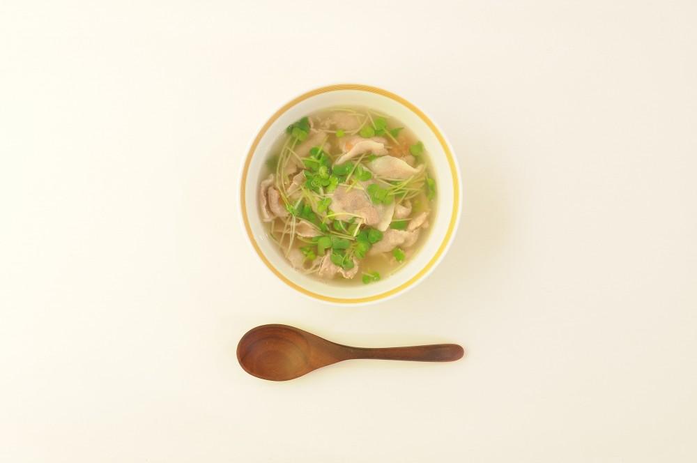 豚しゃぶと梅のスープ