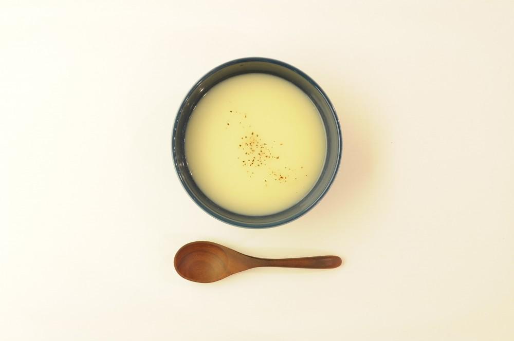 蕪と葱のすり流しスープ