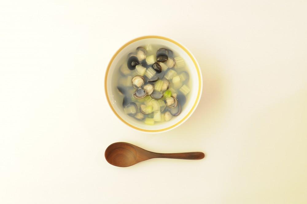 しじみとセロリのスープ