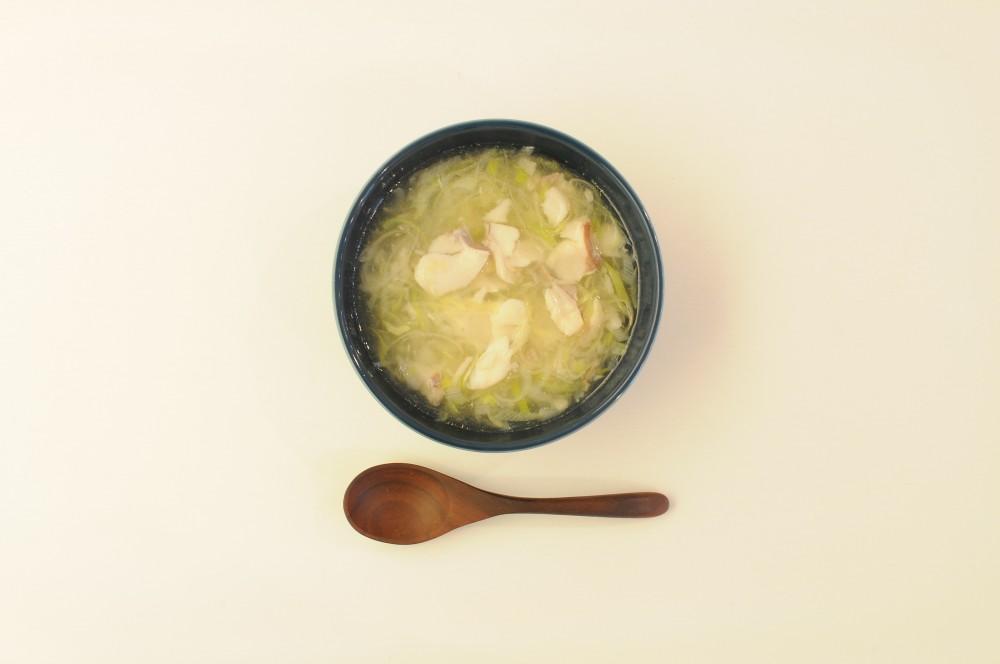 白身魚と葱のとろみスープ
