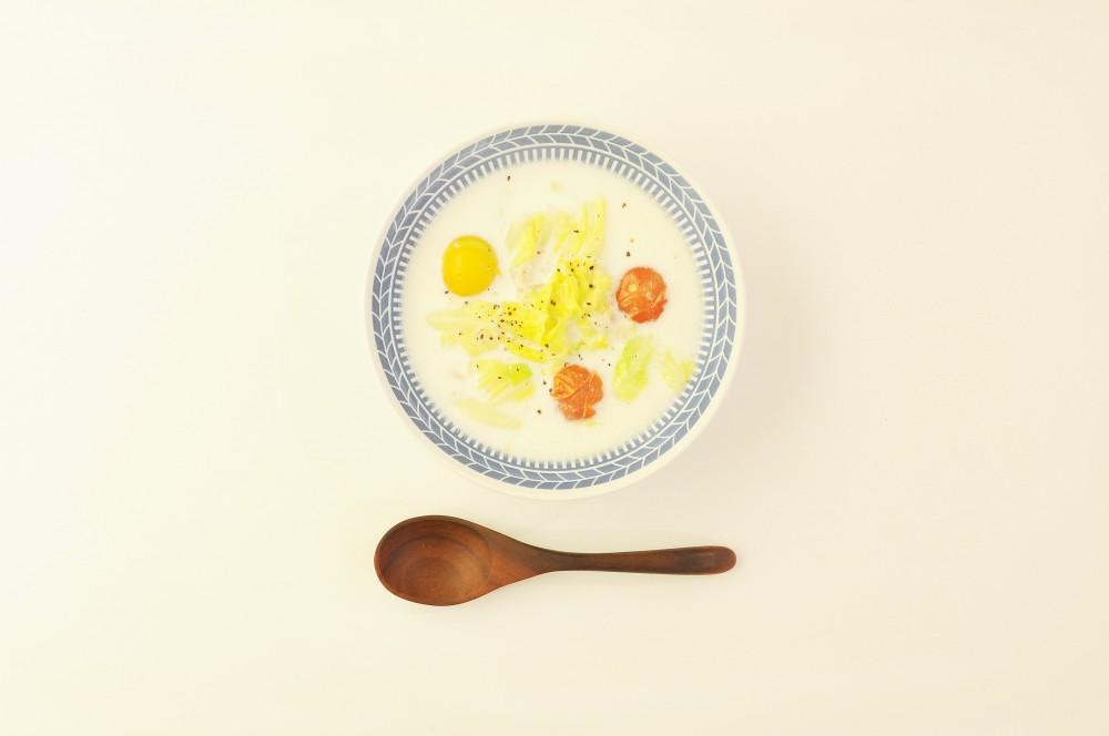 ツナとざく切りキャベツのクリームスープ