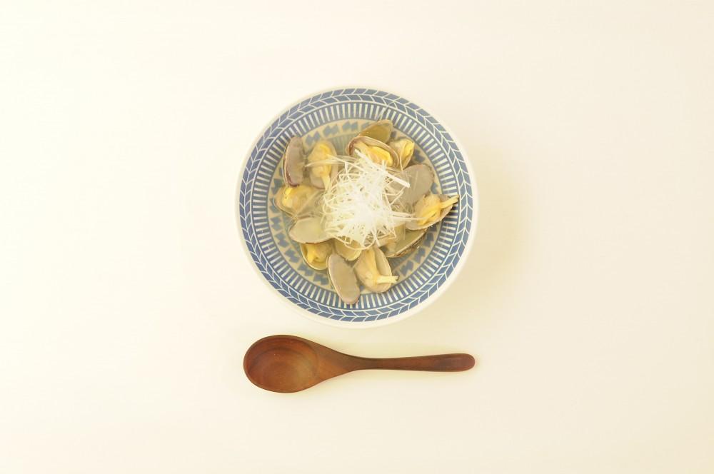 あさりと白髪葱のシンプルスープ