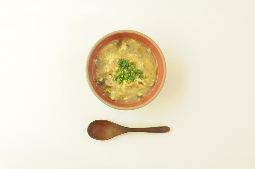 ベーコンとしめじの卵スープ