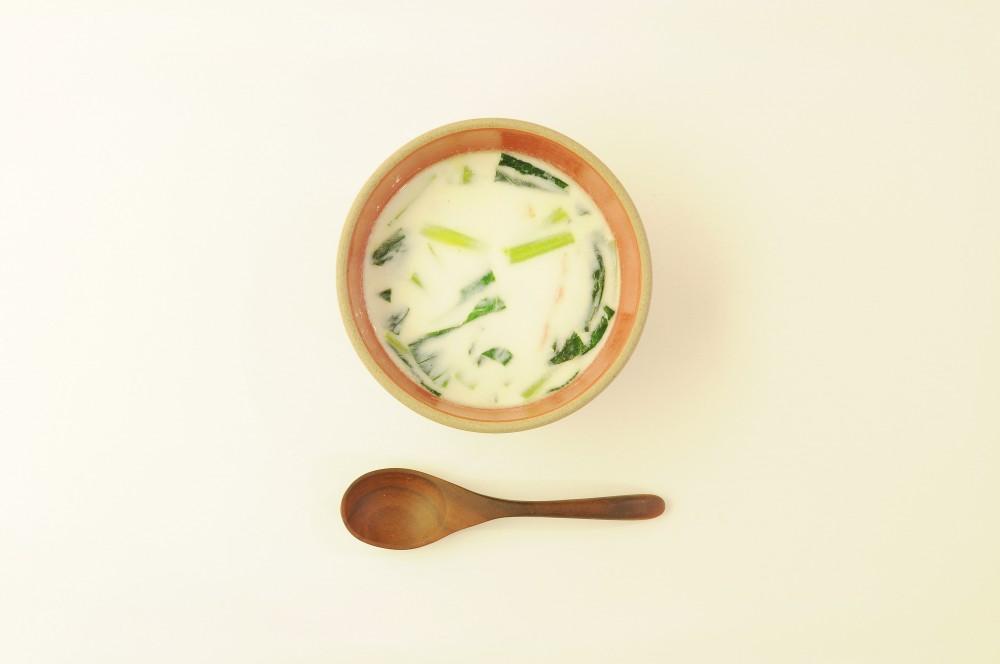 小松菜のクリームスープ