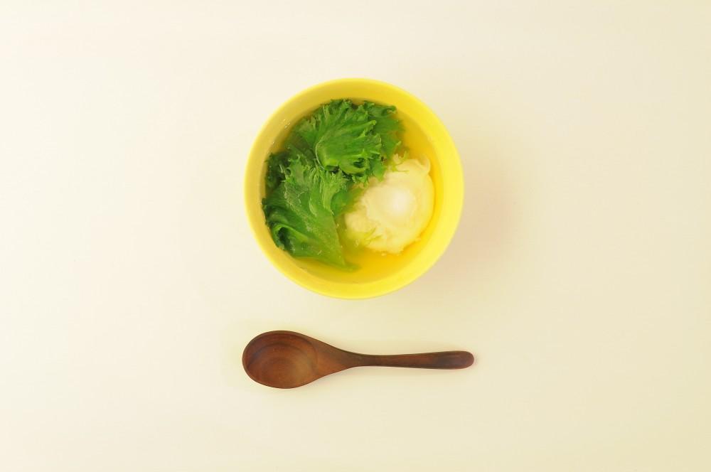 レタスと卵のクイックスープ