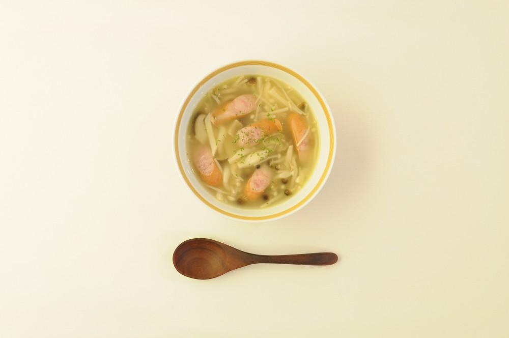 ウィンナーといろいろきのこのスープ