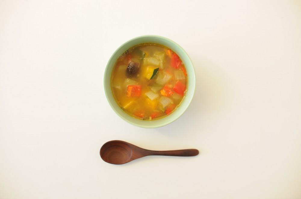 鯵の干物と夏野菜のスープカレー