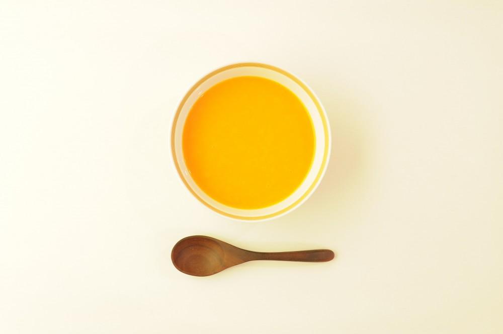 ブラッドオレンジと人参の冷製ポタージュ