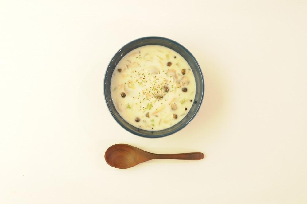きのこのクリームスープ