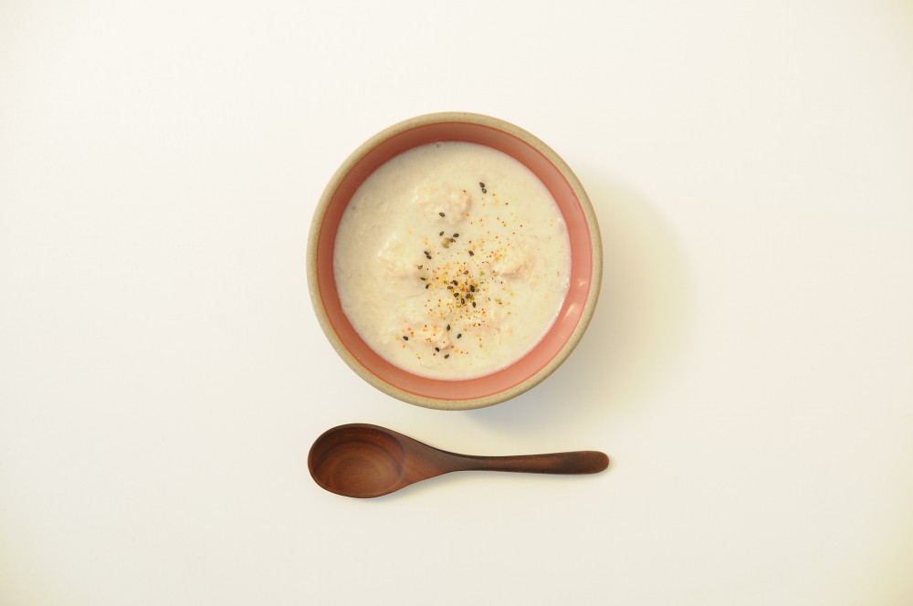 蓮根と生姜のすりおろしスープ