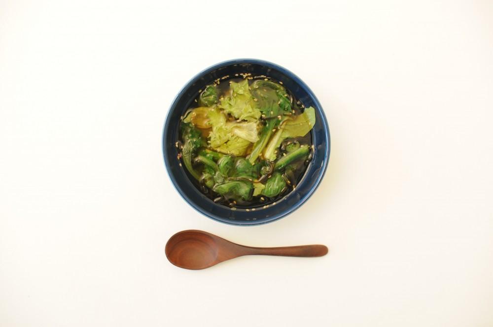 レタスと塩昆布のさっぱりスープ